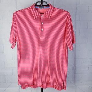 ALAN FLUSSER Golf MEN'S PINK Polo Shirt Large